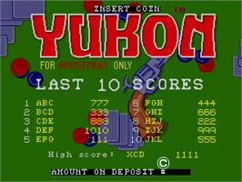 High Score Screen for Yukon.