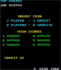 High Score Screen for Zaxxon.