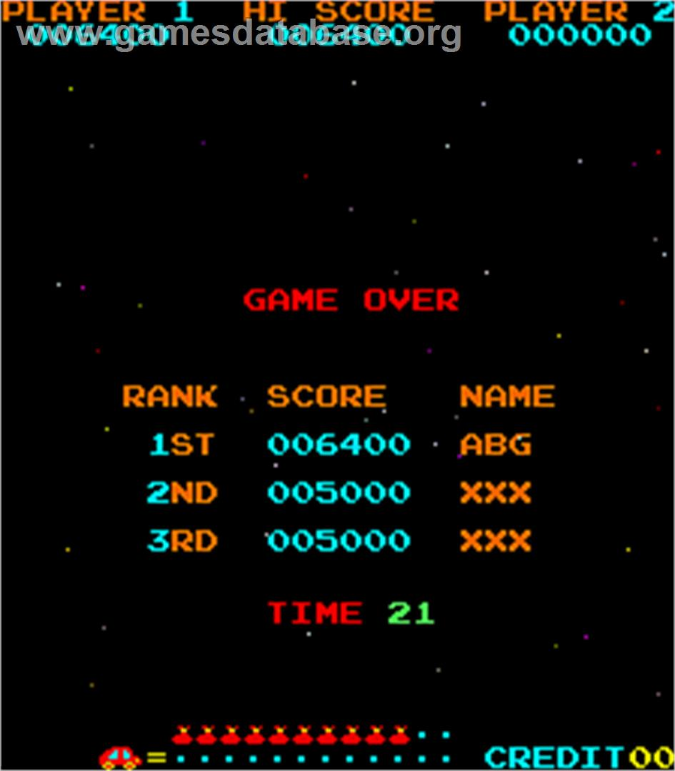 Jump Bug - Arcade - Artwork - High Score Screen