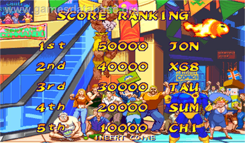 Marvel Super Heroes Vs Street Fighter Arcade Artwork High
