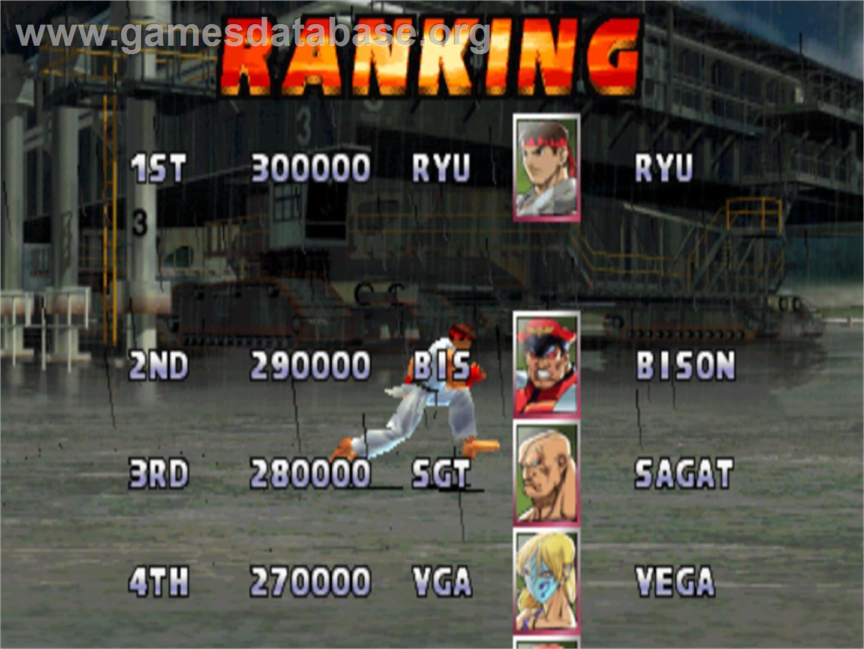 Street Fighter Ex 2 Plus Arcade Artwork High Score Screen