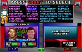 Select Screen for 2 On 2 Open Ice Challenge.