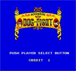 Select Screen for Acrobatic Dog-Fight.