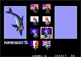 Select Screen for Aero Fighters 2 / Sonic Wings 2.