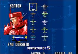 Select Screen for Aero Fighters 3 / Sonic Wings 3.