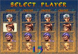 Select Screen for Arabian Fight.