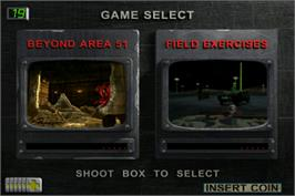 Select Screen for Area 51: Site 4.