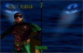 Select Screen for Batman Forever.
