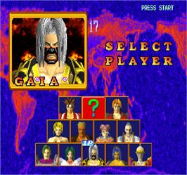 Select Screen for Battle Arena Toshinden 2.