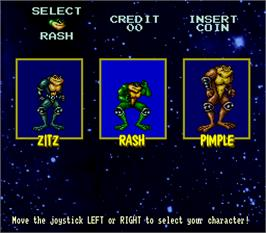 Select Screen for Battle Toads.
