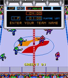 Select Screen for Blades of Steel.