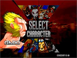 Select Screen for Bloody Roar.