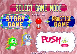 Select Screen for Bubble Memories: The Story Of Bubble Bobble III.