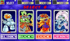 Select Screen for Bucky O'Hare.