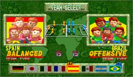 Select Screen for Capcom Sports Club.