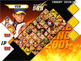 Select Screen for Capcom Vs. SNK 2 Millionaire Fighting 2001.