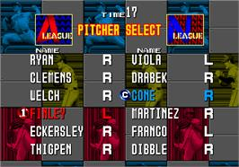 Select Screen for Clutch Hitter.