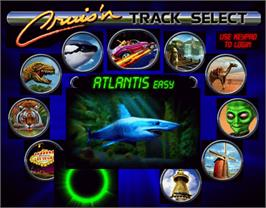 Select Screen for Cruis'n Exotica.