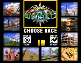 Select Screen for Cruis'n World.