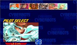 Select Screen for Cyberbots: Fullmetal Madness.