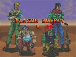 Select Screen for Desert Assault.