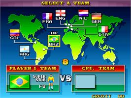 Select Screen for Dream Soccer '94.
