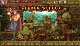 Select Screen for Dungeons & Dragons: Shadow over Mystara.