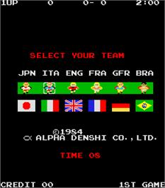 Select Screen for Exciting Soccer II.