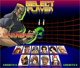 Select Screen for Fatal Fury: Wild Ambition.