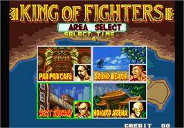 Select Screen for Fatal Fury - King of Fighters / Garou Densetsu - shukumei no tatakai.