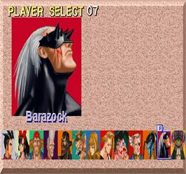 Select Screen for Fighters' Impact A.