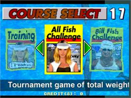 Select Screen for Fisherman's Bait - Marlin Challenge.