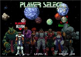 Select Screen for Galaxy Fight - Universal Warriors.
