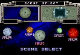 Select Screen for Galaxy Force 2.