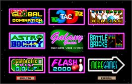 Select Screen for Galaxy Games StarPak 2.