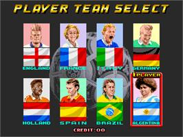 Select Screen for Goal! '92.