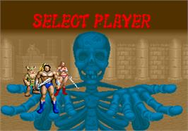 Select Screen for Golden Axe.