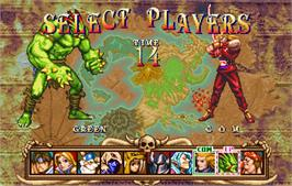 Select Screen for Golden Axe - The Duel.
