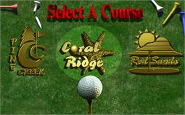 Select Screen for Golden Tee '97.