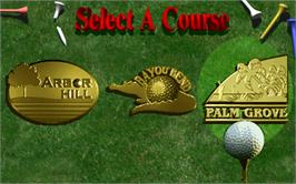 Select Screen for Golden Tee '98.