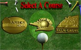 Select Screen for Golden Tee '98 Tournament.