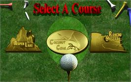 Select Screen for Golden Tee '99 Tournament.