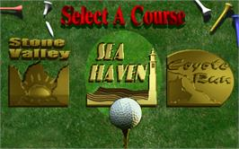 Select Screen for Golden Tee 2K.