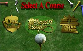 Select Screen for Golden Tee 3D Golf.