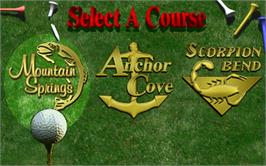 Select Screen for Golden Tee Classic.