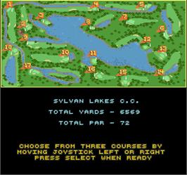 Select Screen for Golden Tee Golf.