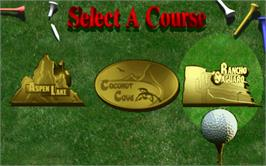 Select Screen for Golden Tee Royal Edition Tournament.