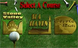 Select Screen for Golden Tee Supreme Edition Tournament.