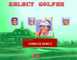 Select Screen for Golfing Greats.