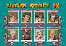 Select Screen for Gouketsuji Ichizoku.